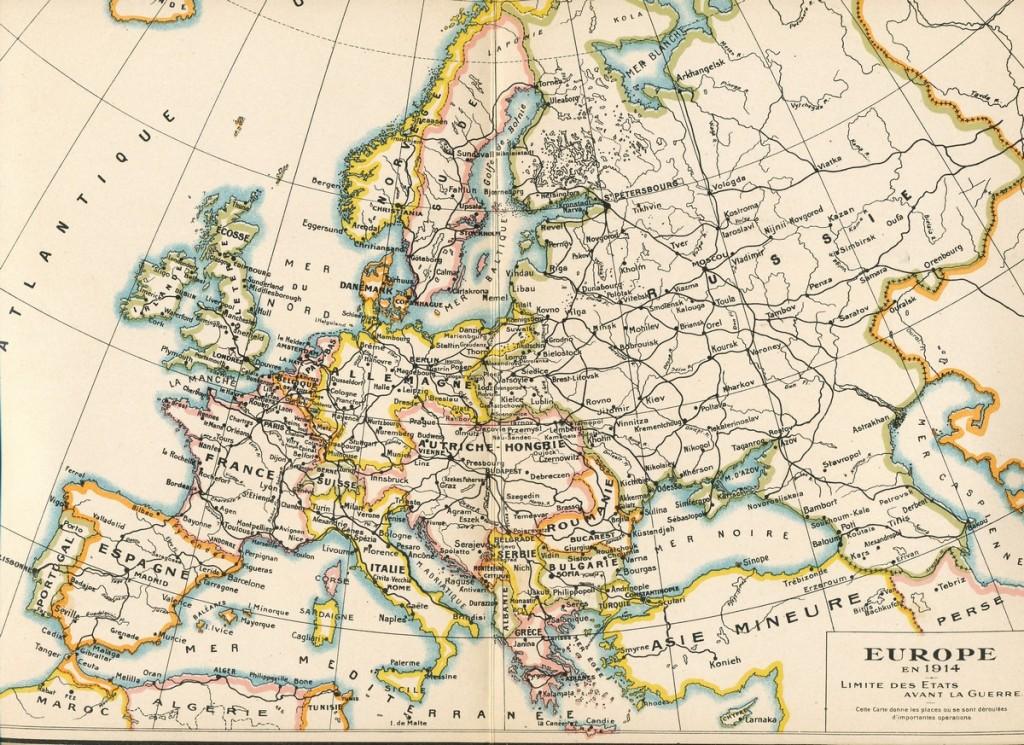 L'Europe avant 1914 retaille